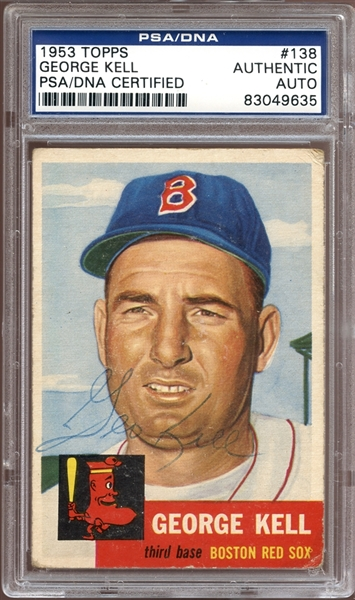 1953 Topps #138 George Kell Autographed PSA/DNA AUTHENTIC