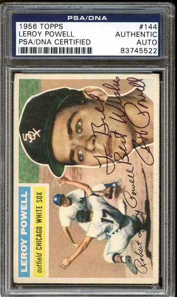 1956 Topps #144 Leroy Powell Autographed PSA/DNA AUTHENTIC