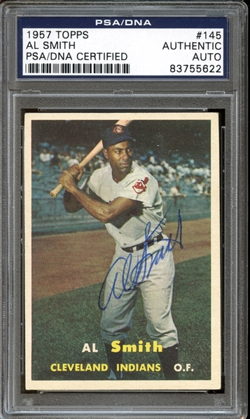1957 Topps #145 Al Smith Autographed PSA/DNA AUTHENTIC