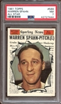1961 Topps #589 Warren Spahn All Star PSA 7 NM