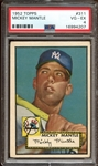 1952 Topps #311 Mickey Mantle PSA 4 VG-EX