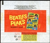 1964 Topps Beatles Plaks Wax Wrapper