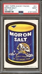 1967 Topps Wacky Packs Moron Salt Die-Cut PSA 9 MINT
