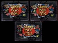 1969 Topps Pak O Fun Group Of (3) Unopened Packs BBCE