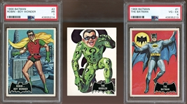 1966 Topps Batman Black Bat and Red Bat Group of (103)