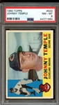 1960 Topps #500 Johnny Temple PSA 8 NM-MT