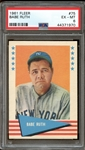 1961 Fleer Baseball Greats #75 Babe Ruth PSA 6 EX/MT