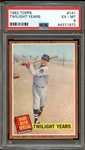 1962 Topps #141 Babe Ruth Special Twilight Years PSA 6 EX/MT