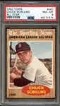 1962 Topps #467 Chuck Schilling All Star PSA 8 NM-MT