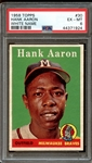 1958 Topps #30 Hank Aaron White Name PSA 6 EX/MT