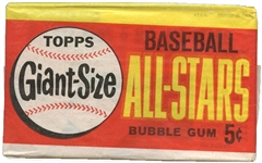 1964 Topps Giants 5-Cent Unopened Wax Pack