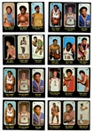 1971-72 Topps Trios Basketball Stickers Group of (22) with Chamberlain