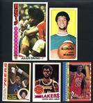 1970-1988 Topps and Fleer Basketball Group of (17) with Stars and HOFers