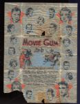 1933 Movie Gum Wax Wrapper with Contest Date