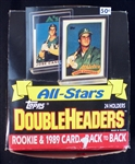 1989 Topps Doubleheaders Unopened Wax Box