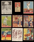 1911-1941 Prewar Baseball Esoteric Group of (68) Cards, Pins and Matchbook Covers