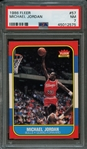 1986 Fleer #57 Michael Jordan PSA 7 NM