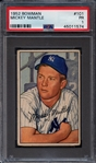 1952 Bowman #101 Mickey Mantle PSA 1 PR