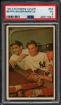 1953 Bowman Color #44 Berra/Bauer/Mantle PSA 3 VG