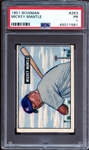 1951 Bowman #253 Mickey Mantle PSA 1 PR