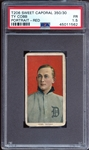 1909-11 T206 Sweet Caporal 350/30 Ty Cobb Red Portrait PSA 1.5 FR