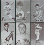 1939-66 Exhibits Group of 25 Baseball Cards with Stars and Hall of Famers