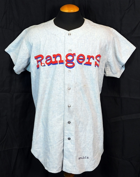 1971-72 Ted Williams Washington Senators /Texas Rangers Game-Used Road Jersey-The Last Major League Flannel Jersey He Ever Wore!