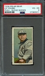 1909-11 T206 POLAR BEAR CY YOUNG, CLE. GLOVE SHOWS PSA 4 VG/EX