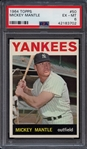 1964 Topps #50 Mickey Mantle PSA 6 EX MT