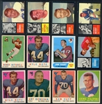 1955-1971 Football Shoebox Collection of (393) Cards with Stars and HOFers
