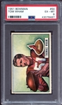 1951 Bowman #64 Tom Wham PSA 6 EX/MT