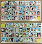 1970 Topps Baseball Group of (2) Uncut 44-card Panels with Stars and HOFers