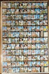 1971 Topps Baseball Uncut Sheet with (2) Hank Aaron