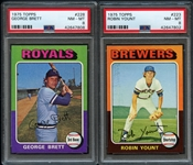 1975 Topps George Brett & Robin Yount Both PSA 8 NM/MT