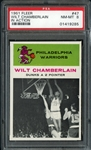 1961 Fleer #47 Wilt Chamberlain in Action PSA 8 NM/MT
