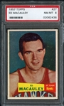 1957 Topps #27 Ed Macauley PSA 8 NM/MT