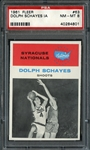 1961 Fleer #63 Dolph Schayes IA PSA 8 NM/MT
