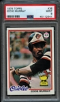 1978 Topps #36 Eddie Murray PSA 9 MINT
