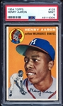 1954 Topps #128 Henry Aaron PSA 9 MINT- A Recently Graded Fresh To The Hobby Stunner
