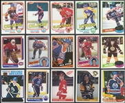 1980-81 through 1989-90 Topps Hockey Group of (7) Complete Sets
