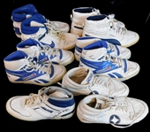 1980s Denver Nuggets Game-Used and Signed Shoe Collection of (11)