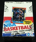 1986-87 Fleer Basketball Unopened Wax Box (BBCE) With Letter Attesting To Original Fleer Sequence from BBCE