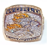 1998 Denver Broncos Super Bowl XXXIII Championship Players Ring-Marvin Washington