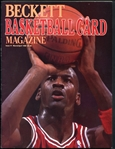 1990 Beckett Basketball Card Magazine Issue #1 Featuring Michael Jordan