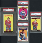 1960-70s Topps & OPC Lot of (4) Graded Cards