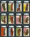 1953 Topps World on Wheels High Grade High-Grade Group of (22) All SGC