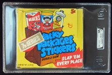 1974 Topps Wacky Packages Full Unopened 7th Series Wax Box GAI 8.5 NM/MT+