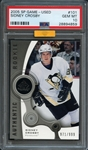 2005 SP Game-Used #101 Sidney Crosby PSA 10 GEM MINT MBA-Gold