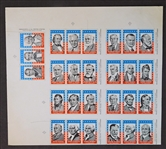 1960 Bazooka Presidents of the U.S. Full Uncut Sheet