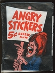 1967 Topps Angry Stickers Unopened Wax Pack